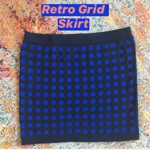 Retro Grid Skirt